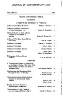 Journal of Contemporary Law