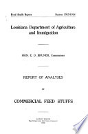 Commercial Feed Stuffs Report