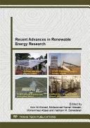 Recent Advances in Renewable Energy Research