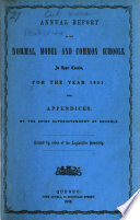 Annual Report of the Normal  Model  Grammar  and Common Schools  in Upper Canada Book