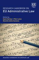 Research Handbook on EU Administrative Law