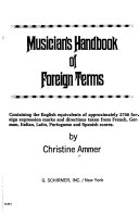 Musician s Handbook of Foreign Terms Book