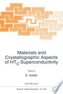Materials and Crystallographic Aspects of HTc Superconductivity