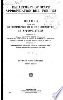 Department of State Appropriation Bill for 1932