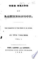 The Bride of Lammermoor   By Sir Walter Scott   The Correction of the Press by Dr  Fl  gel