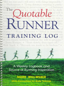 The Quotable Runner Training Log