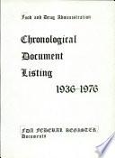Chronological Document Listing 1936 1976