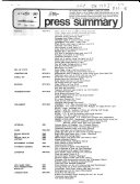 Press Summary   Illinois Information Service