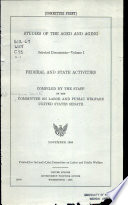 Studies of the Aged and Aging  Federal and State activities