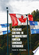 Teaching Culture in Introductory Foreign Language Textbooks