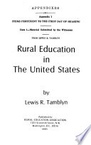 Hearings, Reports and Prints of the Senate Select Committee on Equal Educational Opportunity