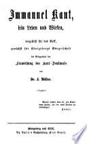 Immanuel Kant Sein Leben Und Wirken