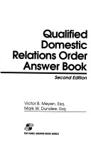 Qualified Domestic Relations Order Answer Book