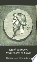 Greek Geometry from Thales to Euclid Book PDF