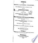 The Debates Resolutions And Other Proceedings In Convention On The Adoption Of The Federal Constitution Supplementary To The State Conventions