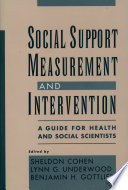 Social Support Measurement and Intervention