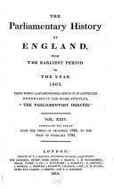 Cobbett's Parliamentary History of England ebook