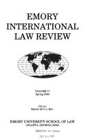 Emory International Law Review