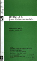 Journal of Abstracts of the British Ship Research Association