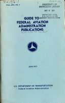 Guide to Federal Aviation Administration Publications