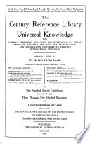 The Century Reference Library of Universal Knowledge  , Band 8
