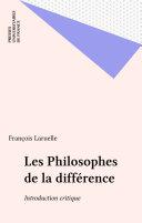 Les Philosophes de la différence Pdf/ePub eBook