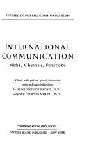 International Communication: Media, Channels, Functions