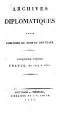 Diplomatisches Archiv für die Zeit- und Staatengeschichte