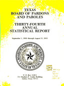 Annual Statistical Report Board Of Pardons And Paroles