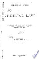 Selected Cases on Criminal Law Book