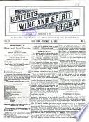 Bonfort's Wine and Spirit Circular