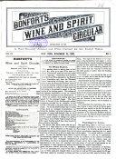 Bonfort s Wine and Spirit Circular