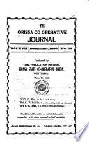 The Orissa Co-operative Journal