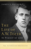 Pdf The Life of A.W. Tozer Telecharger