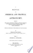 A Manual of Spherical and Astronomy