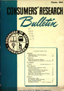 Consumers  Research Bulletin