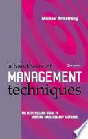 A Handbook of Management Techniques
