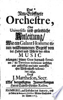 Das neu-eröffnete Orchestre  , Band 1