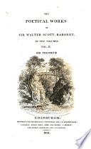 The Poetical Works Of Sir Walter Scott Baronet