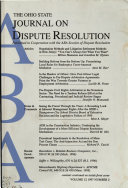 Ohio State Journal on Dispute Resolution Book