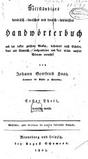 Vollstaendiges latein-deutsches und deutsch-lateinisches Handwoerterbuch