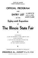 Official Program and Entry List of the Illinois State Fair