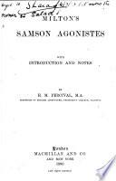 Milton s Samson Agonistes