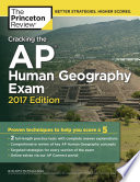 Cracking the AP Human Geography Exam  2017 Edition Book