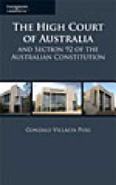 Cover of High Court of Australia and Section 92 of the Australian Constitution