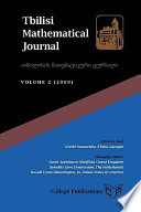 Tbilisi Mathematical Journal