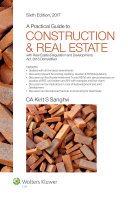 A Practical Guide To Construction   Real Estate  6E