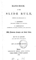 Hand-book of the slide-rule