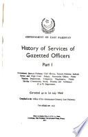History of Services of Gazetted Officers