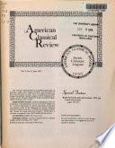 American Classical Review  , Volume 2,Edição 3